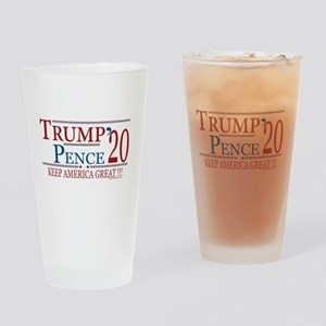TRUMP | Trump Pence 2020 Keep Ameri Drinking Glass